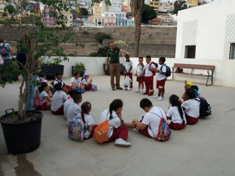 Actividades en Huerto Escolar Municipal
